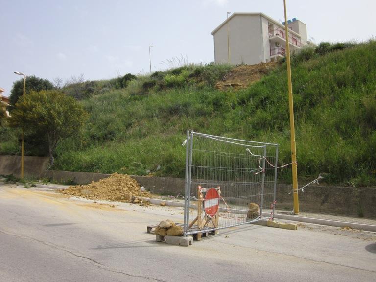Porto Empedocle: nuovi movimenti franosi lungo il costone Vincenzella