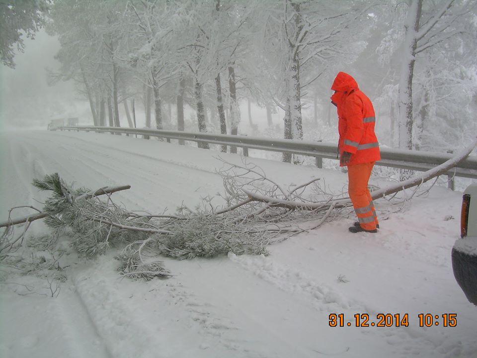 Neve tra Cammarata e Santo Stefano Quisquina: obbligo di catene per chi transita