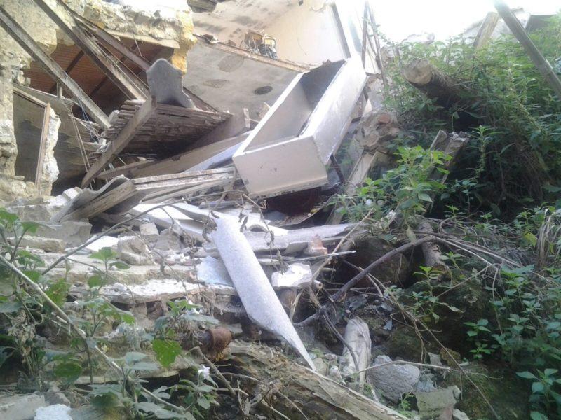 Ancora crolli nel centro storico: cede palazzina disabitata in via Gravano