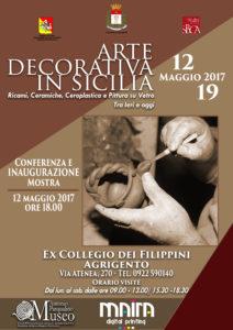 LOCANDINA MOSTRA 'Arte decorativa in Sicilia'