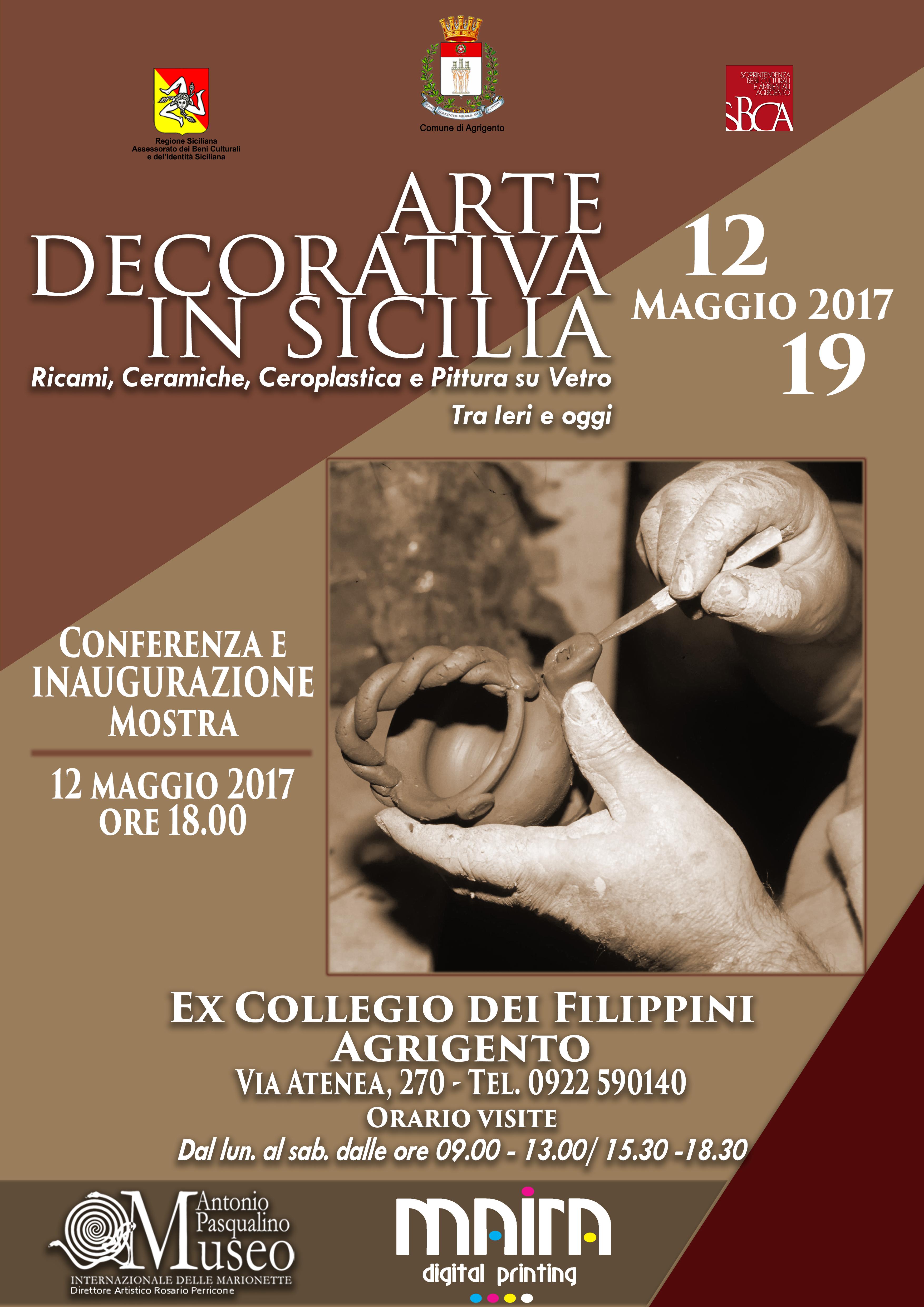'Arte decorativa in Sicilia': mostra prolungata fino al 26 maggio