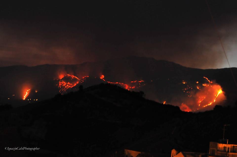 In Sicilia 356 ettari a fuoco in tre giorni
