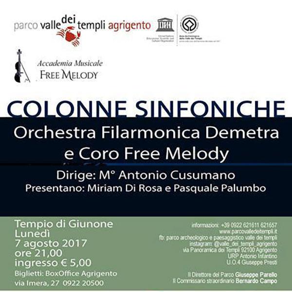 Lunedì 7 agosto spazio al concerto 'Colonne Sinfoniche'