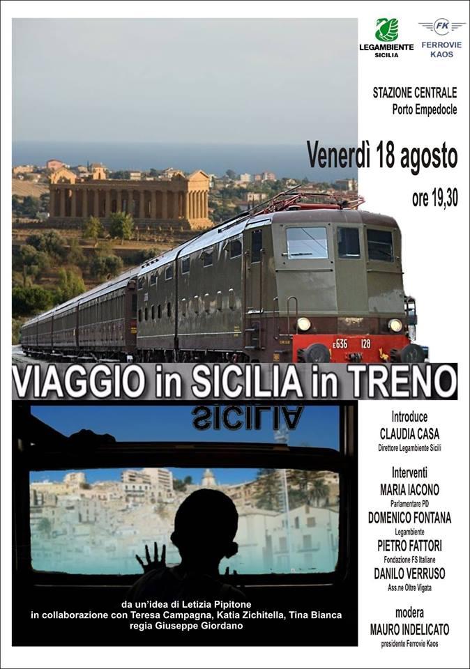 Sarà proiettato a Porto Empedocle il documentario 'Viaggio in Sicilia in treno'