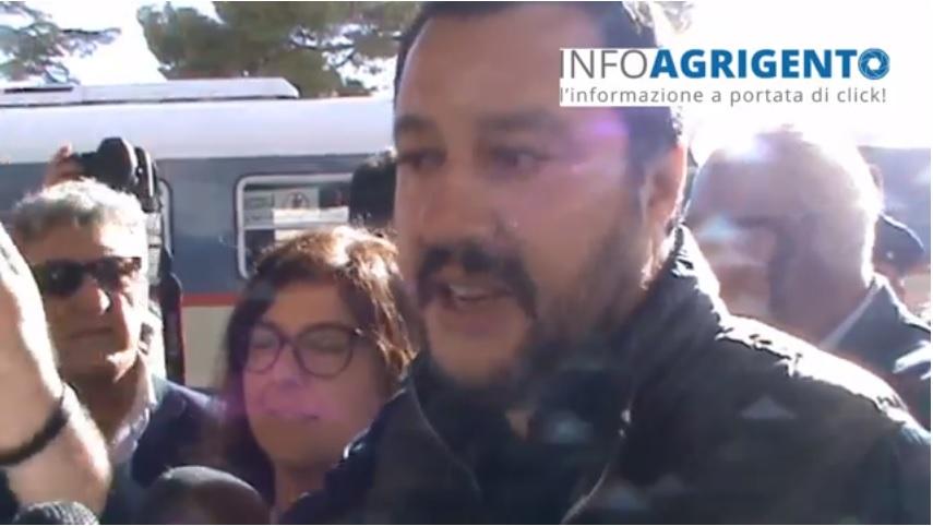 """Matteo Salvini ad Agrigento: """"Serve lavorare per la normalità"""""""