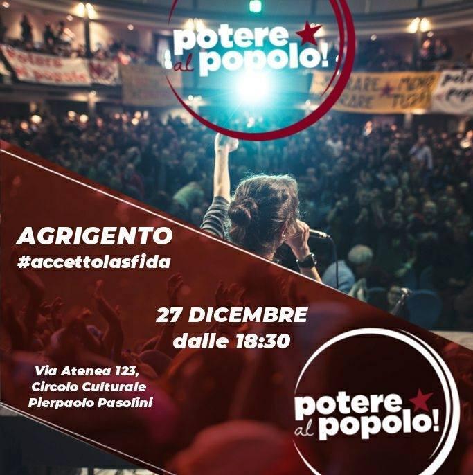 Agrigento: al via la prima assemblea di 'Potere al Popolo'