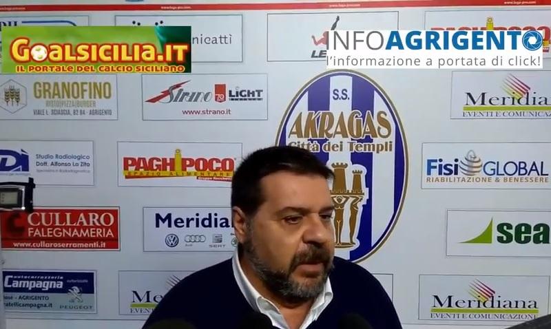 """Akragas, Silvio Alessi lascia: """"Domenica a Pagani, poi si vedrà"""""""