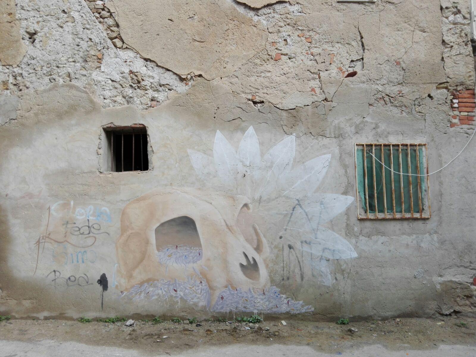 Licata: un'opera di Emanuele Poki per denunciare il degrado