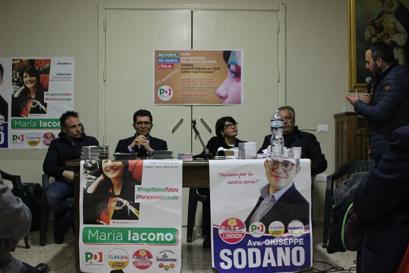 Favara: incontro elettorale con i candidati alla Camera e al Senato del PD