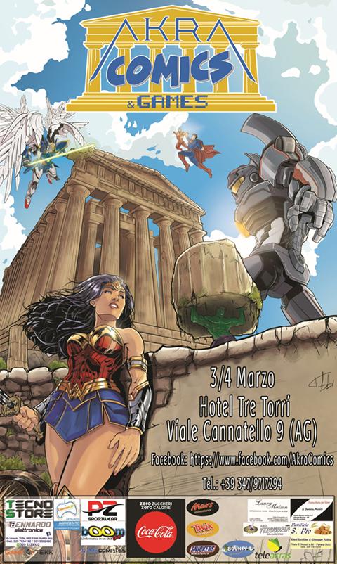 Agrigento, al via la quarta edizione dell'AkraComics&Games