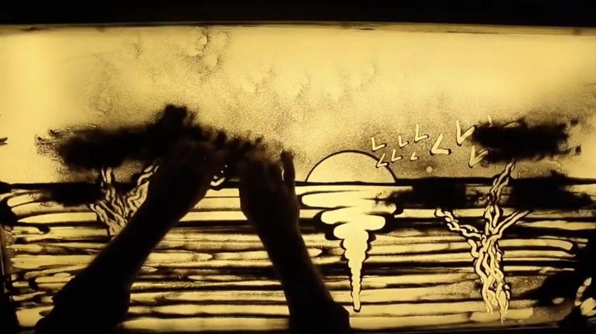 A tu per tu con Gino Sorce, l'artista della 'Sand Art'