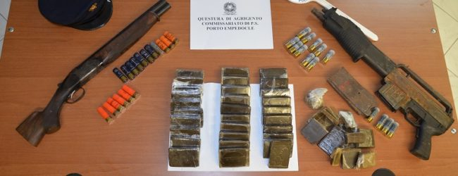 In possesso di droga ed armi, un arresto a Porto Empedocle