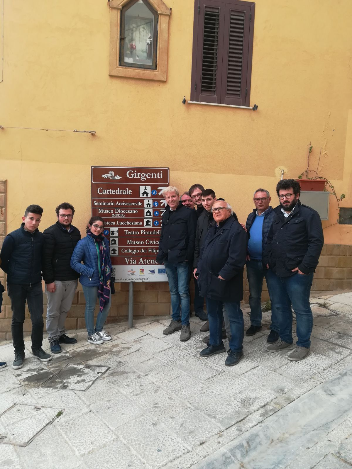 Visita del Sindaco e dell'amministrazione nel centro storico