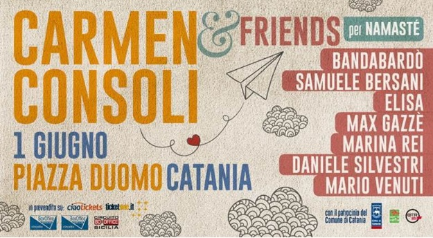"Cambio di location per il ""Carmen Consoli & Friends"""