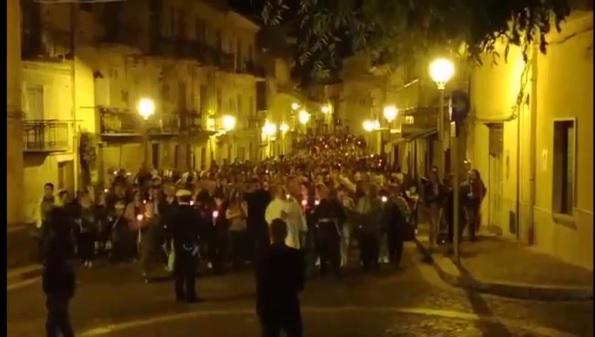 Santo Stefano Quisquina ha ricordato le vittime dell'incidente di lunedì
