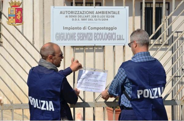 Polizia sequestra impianto di compostaggio rifiuti a Joppolo