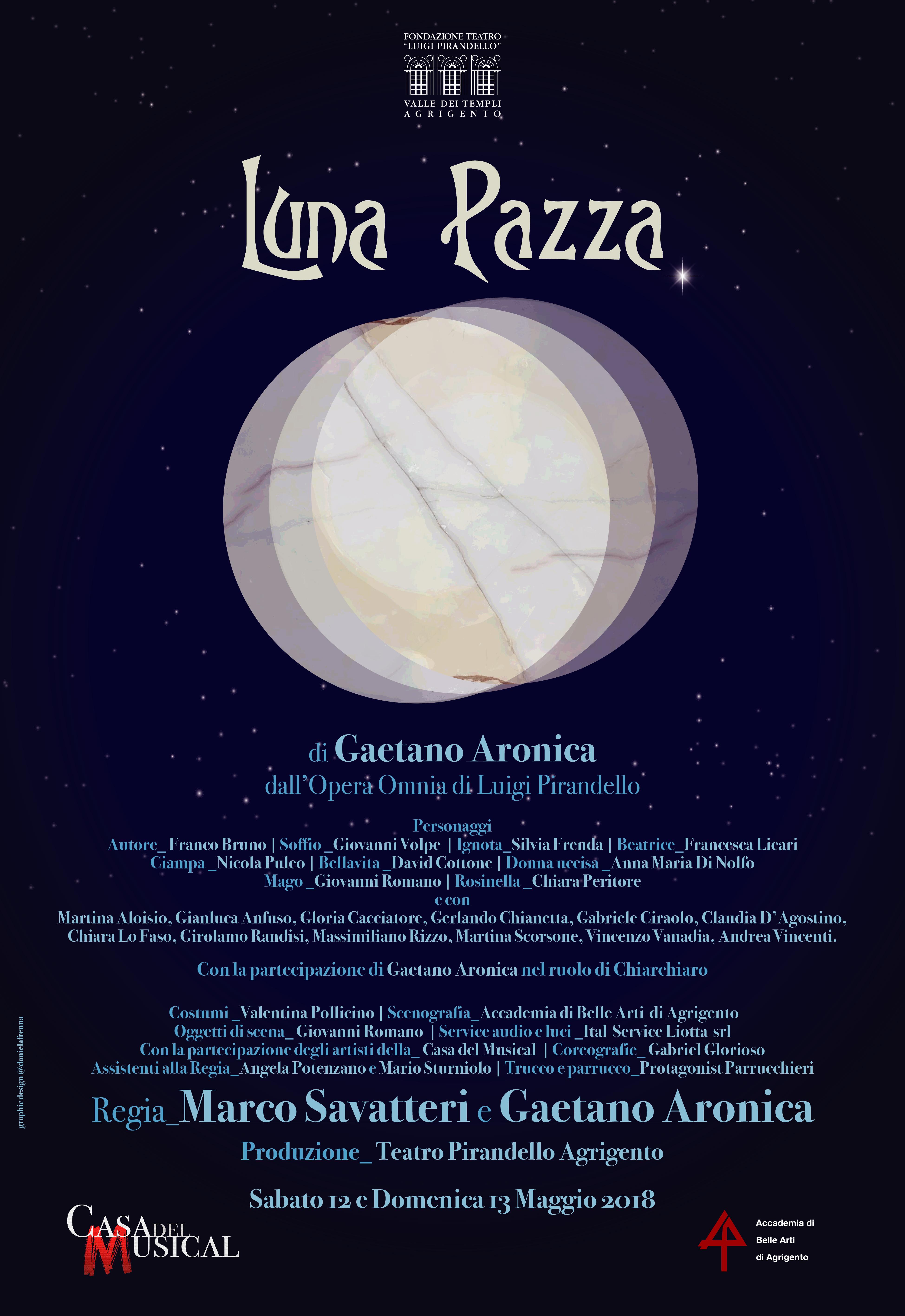 """Debutta """"Luna Pazza"""" di Gaetano Aronica e Marco Savatteri"""