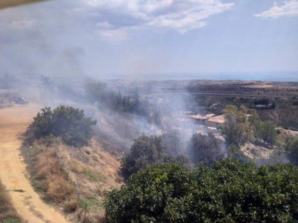 Vasto incendio a Montevago divora venti ettari di vigneto
