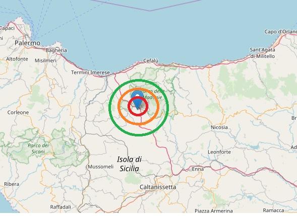 Terremoto nel palermitano, scossa 3.7 Richter registrata nelle Madonie