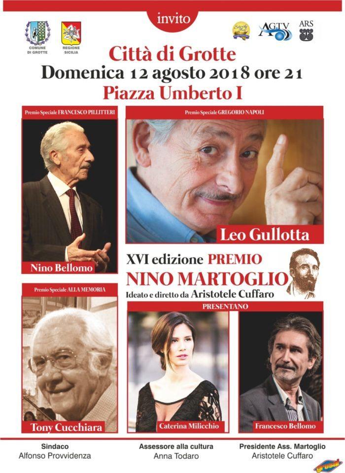 """Grotte, tutto pronto per la 16^ edizione del Premio """"Nino Martoglio"""""""