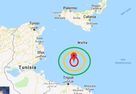 Terremoto nel canale di Sicilia, leggeri tremori avvertiti anche a Lampedusa
