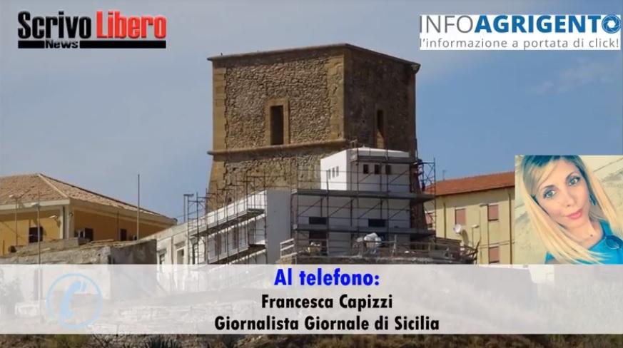 La torre di Porto Palo e lo sfregio: intervista a Francesca Capizzi
