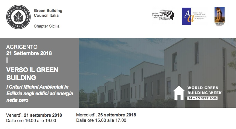 """Settimana del """"Green building"""", ad Agrigento uno dei tre appuntamenti nazionali"""