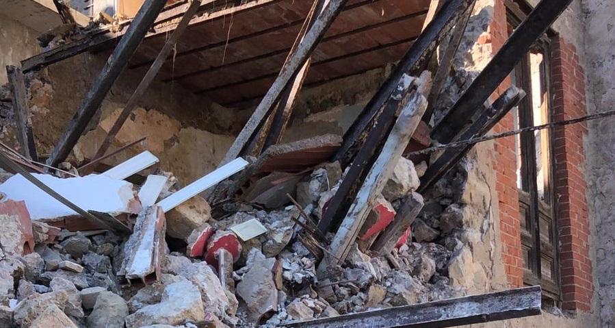 Favara: crolla un'abitazione nel centro storico