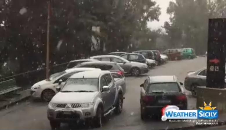 Arriva la neve anche in provincia di Agrigento