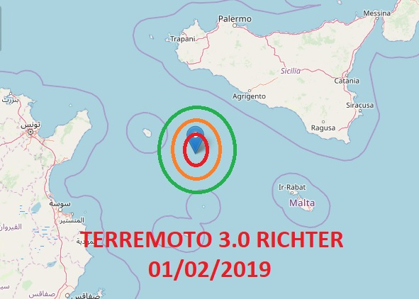 Due scosse di terremoto in tre giorni nel Canale di Sicilia