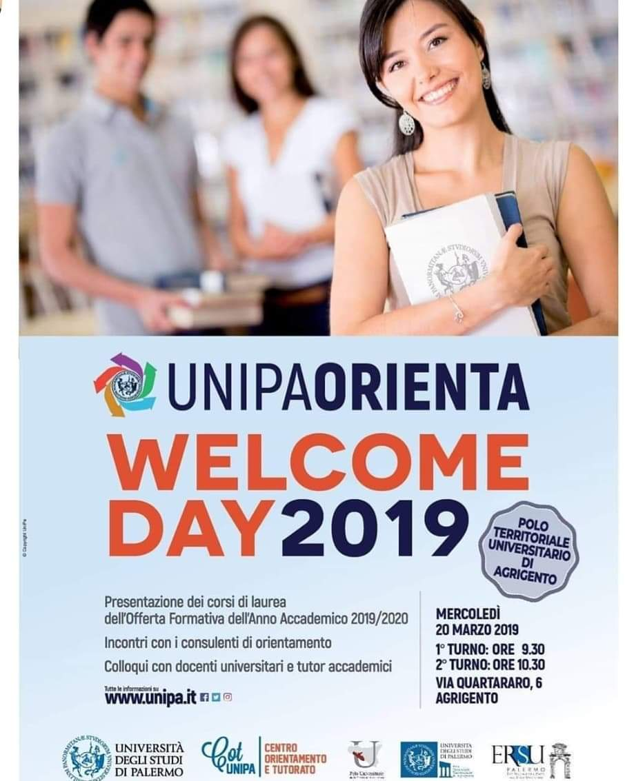 Agrigento, al Polo Universitario il Welcome Day 2019 di Unipa