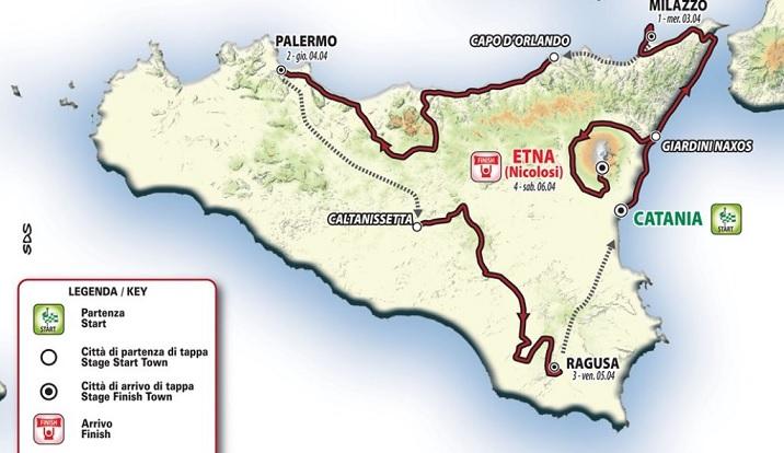 """Dopo 42 anni ritorna il """"Giro di Sicilia"""""""