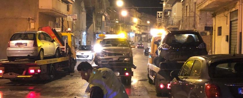 Favara: incidente in corso Vittorio Veneto, quattro auto coinvolte