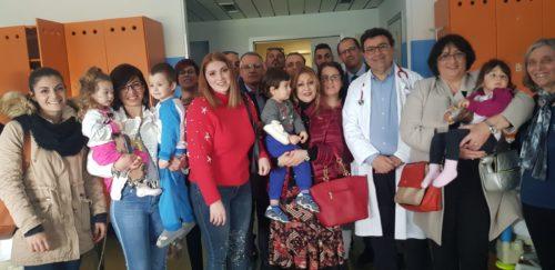 Confcommercio dona colombe pasquali al reparto di pediatria ed alla Casa di Riposo Residence Santa Teresina