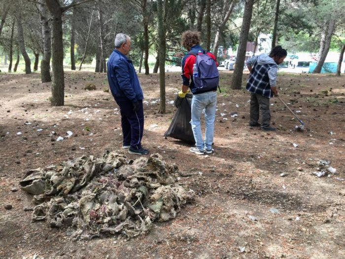 Volontari ripuliscono l'area di Fondacazzo – FOTO