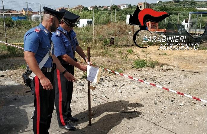 Sequestrata un'area adibita a discarica abusiva tra Agrigento e Joppolo