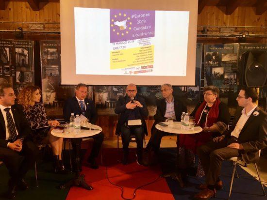 Europee 2019, si è svolto il dibattito tra candidati al Caffè Letterario