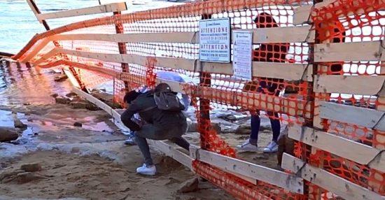Scala dei Turchi: lavori in corso ma pericolo per i visitatori