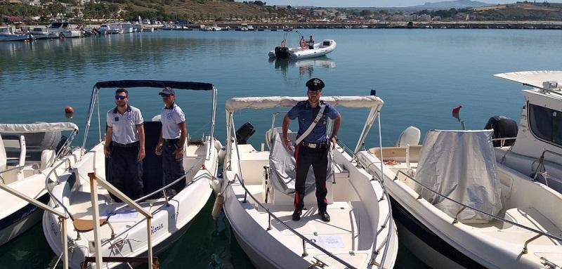 Sequestrata banchina del porticciolo di Porto Palo