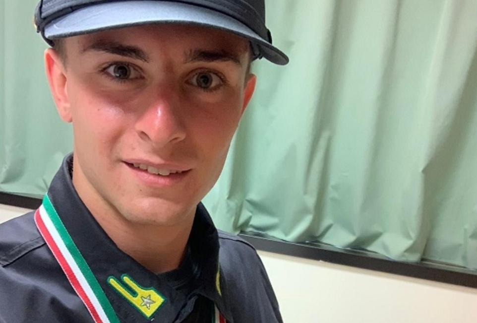 L'agrigentino Francesco Sanfilippo secondo classificato nella staffetta 4×400 alle gare Allievi Delle Fiamme Gialle