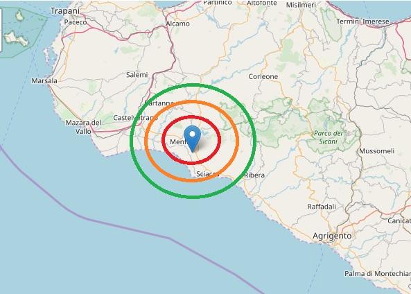 Menfi, registrate tre scosse di terremoto di bassa intensità nelle ultime ore