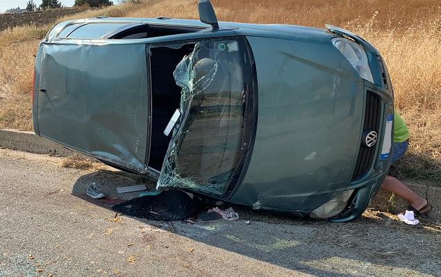 Auto si ribalta, tredicenne trasferito in elisoccorso