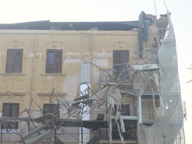 Crollo piazza Cavour, al via i lavori per la messa in sicurezza