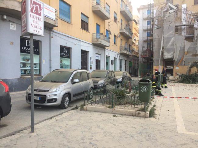 Crollo piazza Cavour, si discute su come alleviare quanto prima i disagi