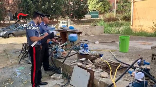 Furti di acqua ed energia elettrica, 24 arresti dei Carabinieri a Licata