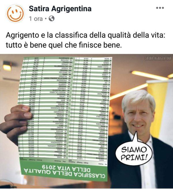 "Agrigento prima in classifica per ""Satira Agrigentina"""
