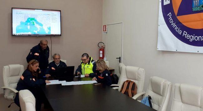 Allerta maltempo, attivata sala operativa della Protezione Civile del Libero Consorzio