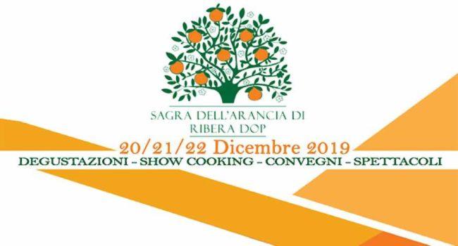 """Torna la """"Sagra dell'arancia di Ribera D.O.P"""": dal 20 al 22 dicembre appuntamento in Piazza Duomo"""