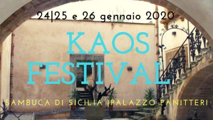 """Torna il """"Kaos Festival"""": la manifestazione dedicata all'editoria, alla legalità e all'identità siciliana approda a Sambuca di Sicilia"""