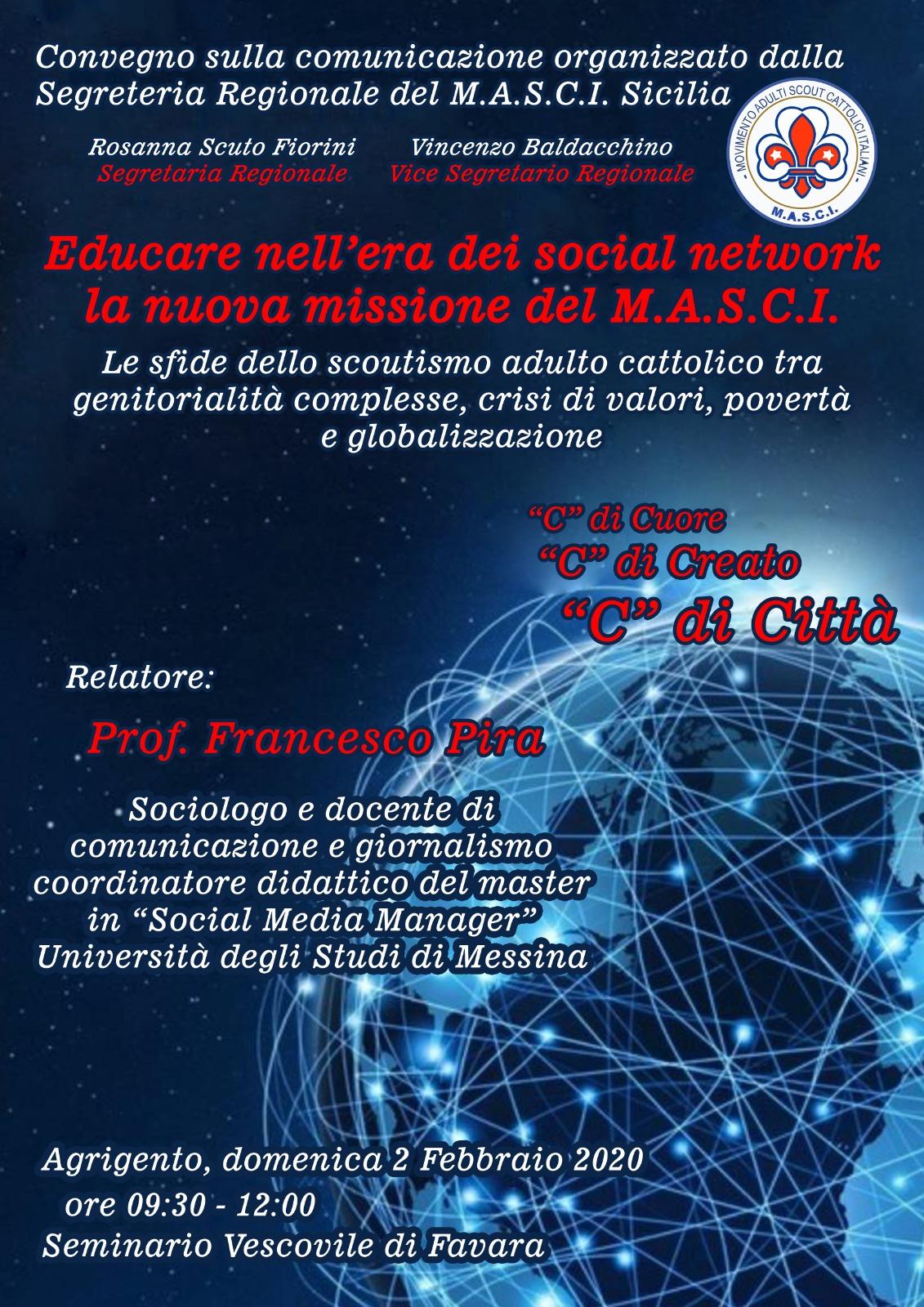Favara, convegno del MASCI Sicilia sull'educazione nell'era digitale